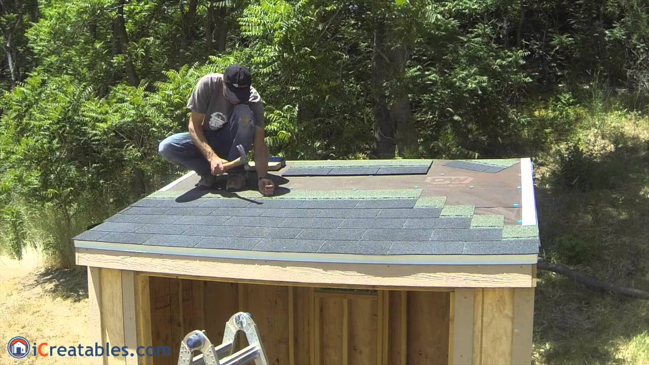 How To Build A Lean To Shed Part 7 Roofing Install