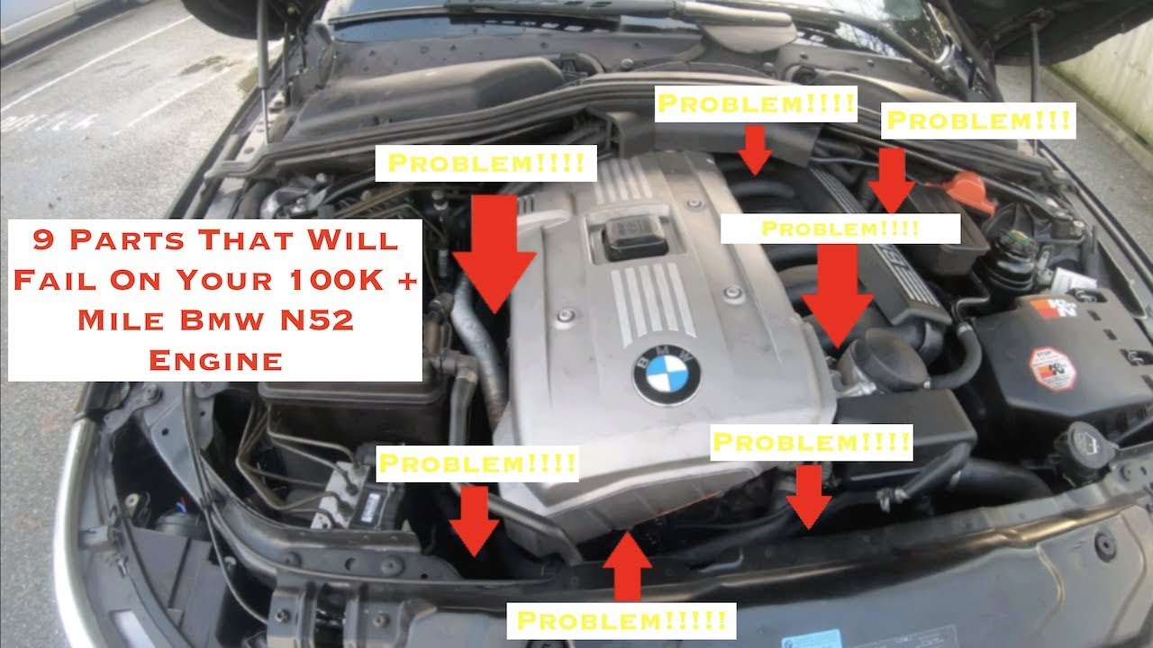 9 Parts That Will Fail On A 100K + Mile Bmw N52 Engine - YouTube | Bmw N52 Engine Diagram |  | YouTube