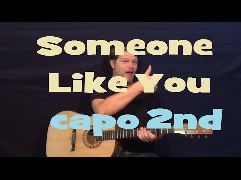 Someone Like You (Adele) Easy Strum Guitar Lesson Chords How to Play Tutorial - Capo 2nd