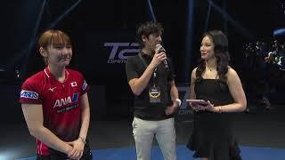 T2ダイヤモンド マレーシア 女子シングルス準々決勝 加藤美優 勝利インタビュー