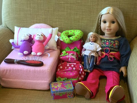 How To  Travel With Your American Girl Doll ~ Two Night Stay Vacation