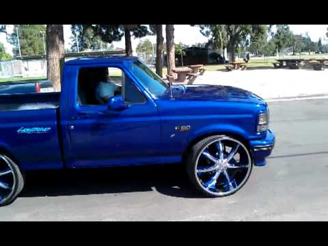 1993 Ford F150 Lightning LIGHTNING ON 28s..... - YouTube