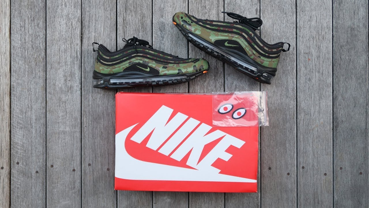 nike air max 97 paese mimetico in giappone unboxing panoramica & in piedi