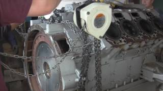Front Street Shipyard Superyacht Engine Removal