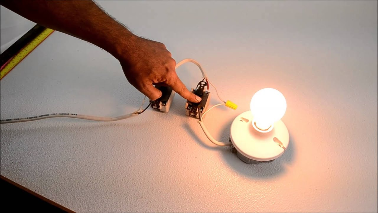 Antique Push-Button 3-Way Light Switch Demonstration - YouTube
