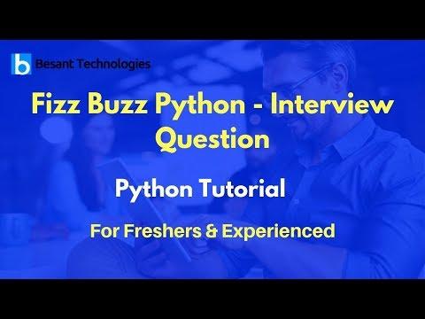 Fizz Buzz Python - Interview Question   Python Tutorial For Beginners thumbnail