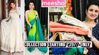 Meesho Haul Starting ₹397🥻Meesho Saree Haul🥻Cotton/Chiffon Saree🥻Meesho Blouse Haul🥻Meesho Gown Haul