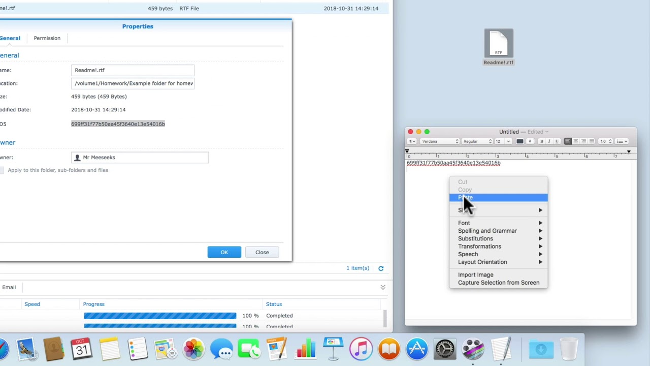 Synology NAS Quick Tip: Reviewing the MD5 Checksum function in File