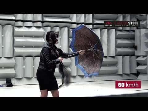 Зонты Doppler - тестирование при ветре 100км/ч