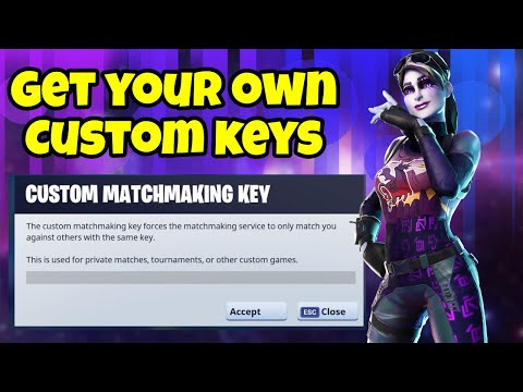 how to get custom matchmaking key