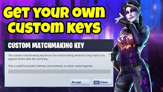 How To Get Custom Matchmaking Key in Fortnite