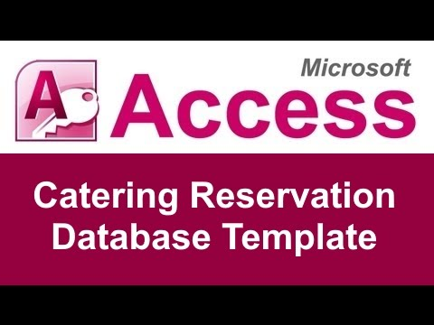 Microsoft Access Catering Reservation Database Template