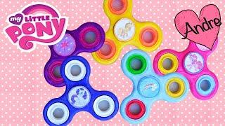Juguetes Fidget Spinners DIY pintados de personajes de My Little Pony Rainbow Dash, Twilight y más