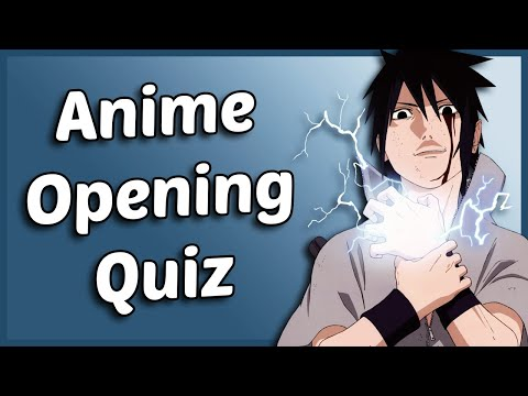Anime Opening Quiz - 30 Openings [EASY - MEDIUM]