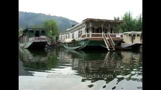 House-boats on the Dal lake in Srinagar