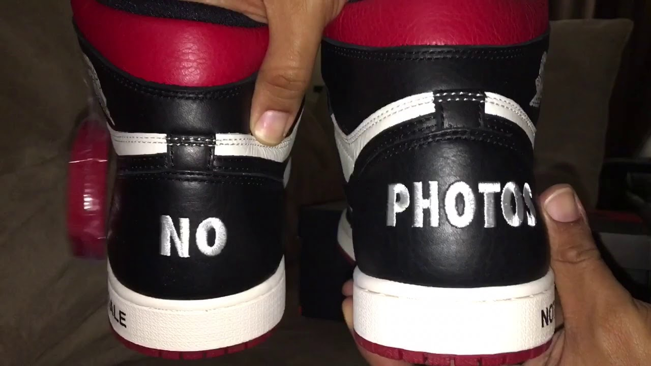 "Air Jordan 1 Retro High OG NRG ""Not For ReSale"" Red (NO L s ) Up Close Look! ada420139"