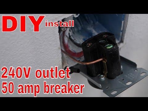 DIY 240 Volt Outlet/50 Amp Breaker in my Home Workshop ... Wiring Amp Breaker on wiring 30 amp breaker, wiring main breaker panel, wiring 100 amp breaker, wiring gfci circuit breaker,