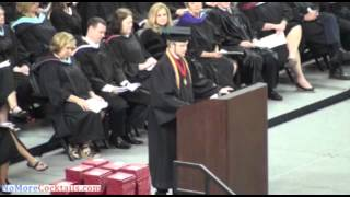Valedictorian rips up approved speech and recites the Lord