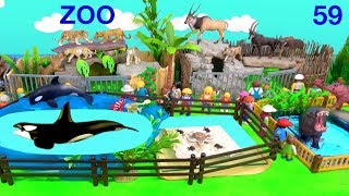 Wild Zoo Animal Toys For Kids - Learn Animal Names and Sounds - Learn Colors with Animals 59
