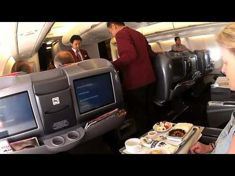 YANGON BANGKOK A330 300 THAI AIRWAYS BUSINESS CLASS 080414