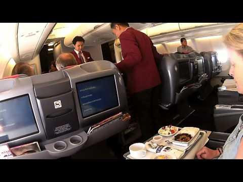 YANGON BANGKOK A330 300 THAI AIRWAYS BUSINESS CLASS 080414