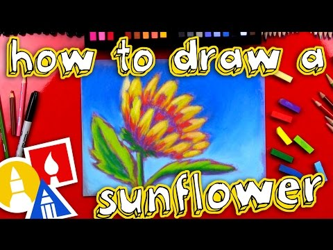 How To Draw A Sunflower With Soft Pastels - 동영상