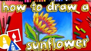 How To Draw A Sunflower With Soft Pastels