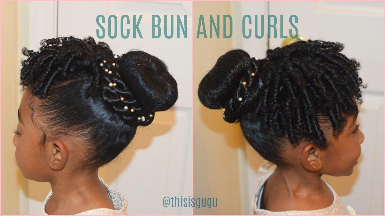 Children Hair Styles: KIDS NATURAL HAIRSTYLES: Sock Bun And Curls