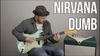 """How to Play """"Dumb"""" by Nirvana on guitar - Guitar Lesson"""
