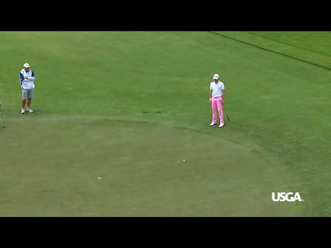Justin Thomas Aims 90 Degrees From the Hole. Makes It. Moves to -4, Round 3