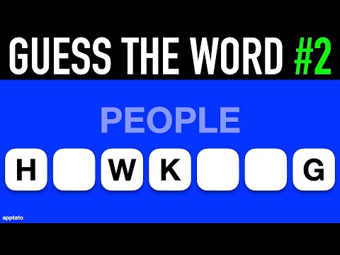 Guess The Word Game #2   General Knowledge Trivia Questions And Answers   Family Game Night