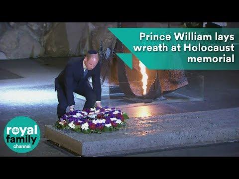Prince William lays wreath at Israel Holocaust memorial