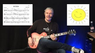 Sunny ( Smooth Jazz ) - Guitar Lesson