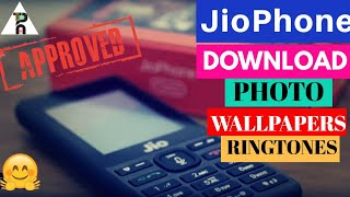 Jio Phone - How to download photo wallpapers and ringtones on Jio Phone