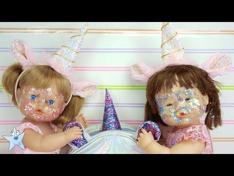 Ani y Ona nenuco se bañan en polvo mágico de UNICORNIO y estrenan mochilas y accesorios