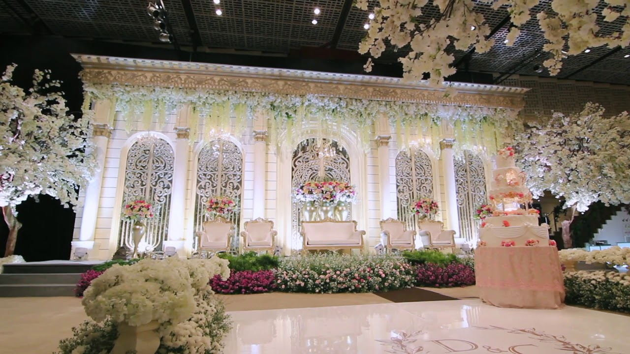 White pearl decoration uob thamrin nine ballroom 20170930 youtube wedding decoration jakarta junglespirit Image collections
