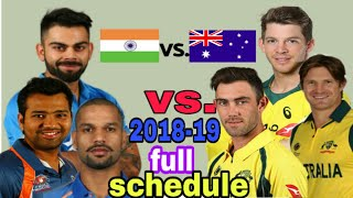 India vs Australia match schedule 2018.By sabhi knowledge channel.