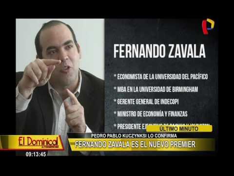 Pedro Pablo Kuczynski confirma que Fernando Zavala será el primer ministro
