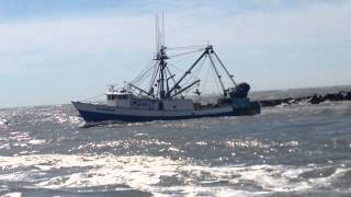Fishing Boat Leaving the Ocean City Maryland Inlet 2
