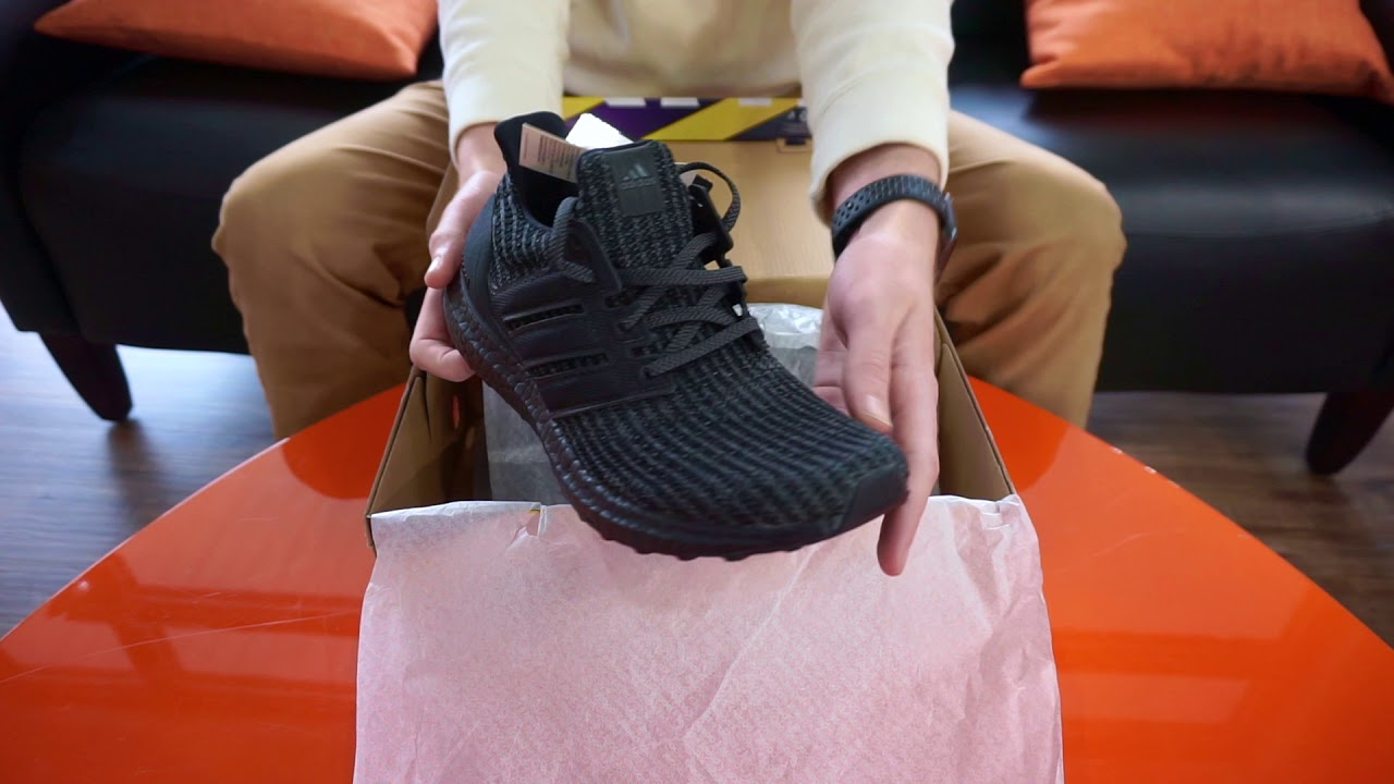 6390758653282 adidas UltraBOOST 4.0 Triple Black Men s Running Shoes SKU  BB6171 - RevUp  Sports Unboxing