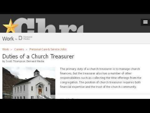 church treasurer job descriptions