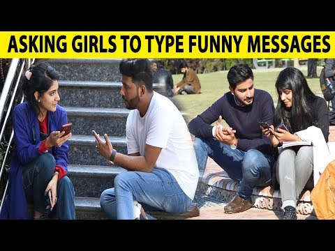 Asking Random Girls To Type Funny Message   University Of Lahore   Lahori PrankStar