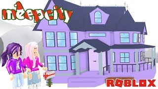 JANET'S NEW VICTORIAN ESTATE HOME! / Roblox: MeepCity Christmas Snow Edition