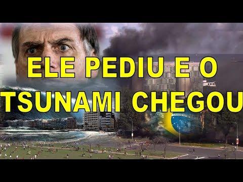 Bolsonaro apavorado! Paralisação de hoje é o Tsunami do povo nas ruas.