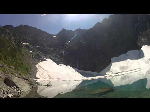 Landslide lake valley area of Strathcona Park