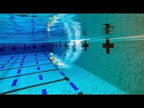 Diving board into deep water 13 feet deep youtube - How deep is the average swimming pool ...