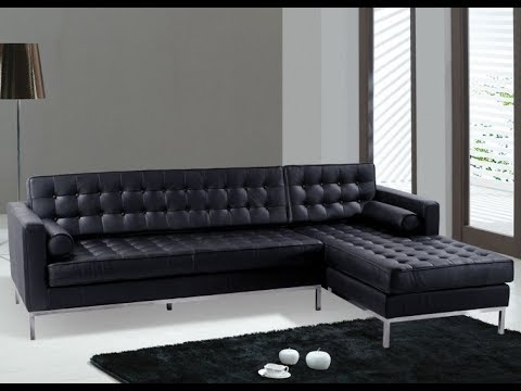 The Black Leather Sectional Couch for Your Living Room Ideas : black leather sectional with chaise - Sectionals, Sofas & Couches