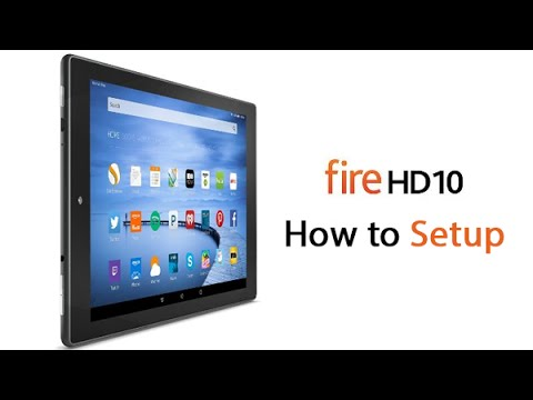 Amazon Kindle Fire HD10 Tablet - How to Setup​​​ | H2TechVideos​​​