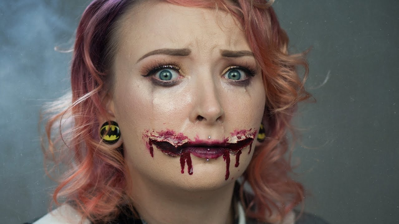 Rozcięte usta - Chelsea Smile ☠ Tutorial na Halloween ♡ Red ...