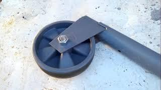 Самодельное опорное колесо для прицепа